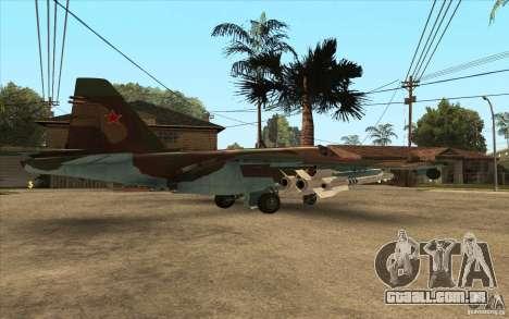 O Su-25 para GTA San Andreas traseira esquerda vista