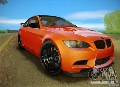 BMW M3 GT-S Final para vista lateral GTA San Andreas