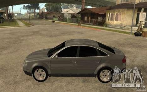 Audi A6 3.0i 1999 para GTA San Andreas esquerda vista