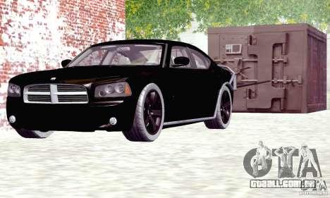Dodge Charger Fast Five para GTA San Andreas traseira esquerda vista
