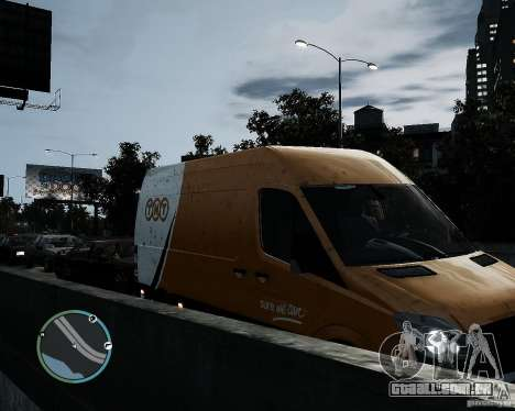 Mercedes-Benz Sprinter TNT para GTA 4 vista direita
