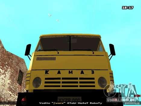 KAMAZ 53112 betoneira para GTA San Andreas vista traseira