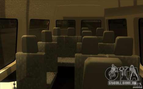 Mercedes Benz Sprinter 315 CDI para GTA San Andreas vista interior