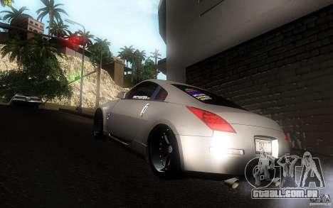 Nissan 350z Speedhunters para GTA San Andreas traseira esquerda vista
