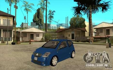 Citroen C2 - Stock para GTA San Andreas