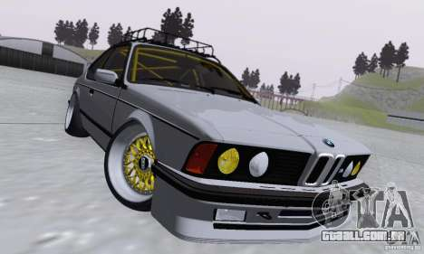 BMW M635CSi Stanced para GTA San Andreas vista interior