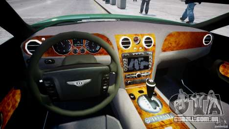 Bentley Continental GT para GTA 4 vista de volta