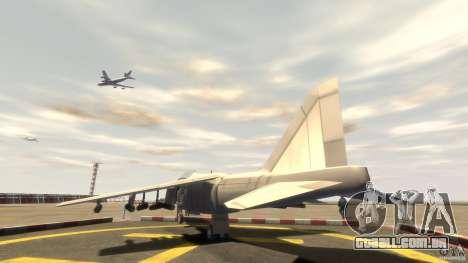 Liberty City força aérea Jet (com engrenagem) para GTA 4 traseira esquerda vista