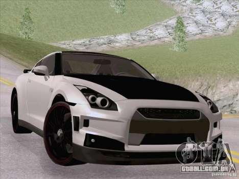 Nissan GTR Edited para GTA San Andreas esquerda vista