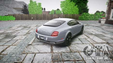 Bentley Continental SuperSports 2010 [EPM] para GTA 4 vista lateral