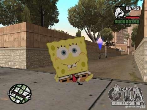 Sponge Bob para GTA San Andreas quinto tela