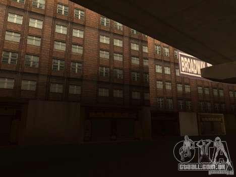 Novo centro de texturas Los Santos para GTA San Andreas por diante tela