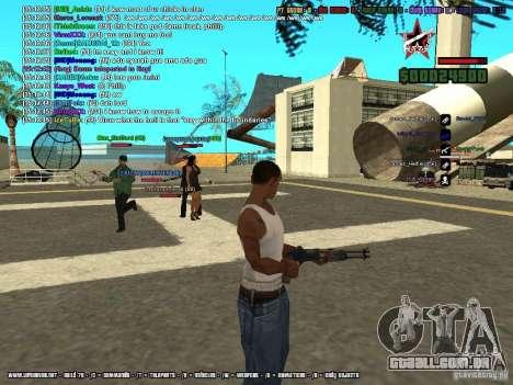 SA:MP 0.3d para GTA San Andreas décimo tela