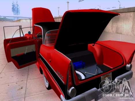 Plymouth Belvedere Sport Sedan 1957 para GTA San Andreas vista interior