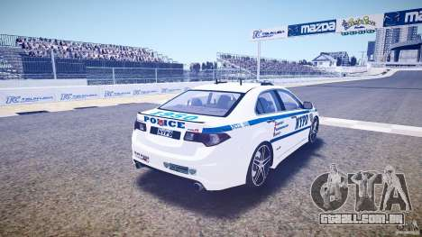Honda Accord Type R NYPD (City Patro 1950l) ELS para GTA 4 vista lateral