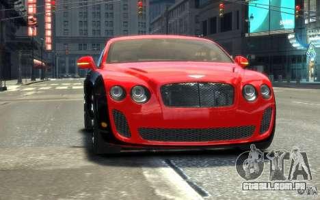 Bentley Continental SS MansorY para GTA 4 vista lateral