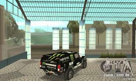 Hummer H3 Baja Rally Truck para GTA San Andreas esquerda vista