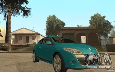 Renault Megane 3 Coupe para GTA San Andreas vista traseira