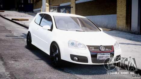 Volkswagen Golf 5 GTI para GTA 4 vista de volta