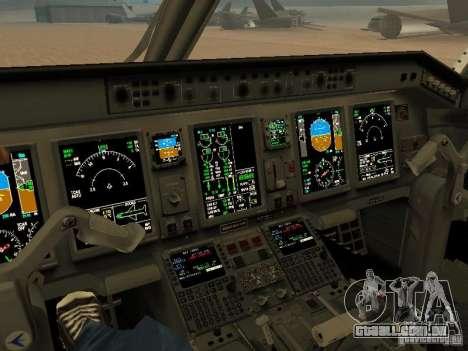 Embraer ERJ 190 Air Canada para GTA San Andreas vista interior