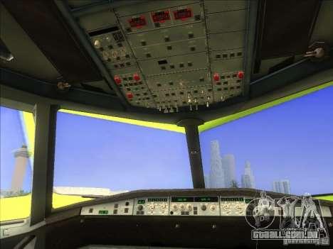Airbus A-320 S7Airlines para GTA San Andreas vista traseira