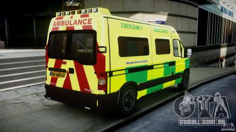 Renault Master 2007 Ambulance Scottish [ELS] para GTA 4 vista lateral