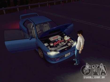 Subaru Impreza WRX GC8 InitialD para GTA San Andreas traseira esquerda vista