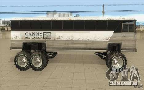 Bus monster [Beta] para GTA San Andreas esquerda vista