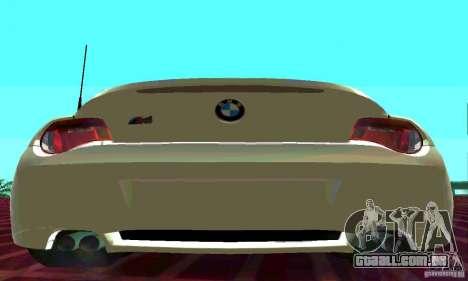 BMW Z4 E85 M para GTA San Andreas esquerda vista