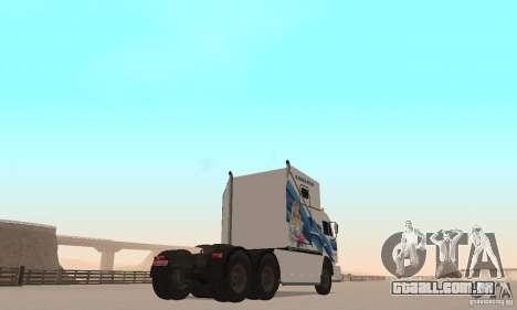 Secretariado KAMAZ-54112 para GTA San Andreas traseira esquerda vista