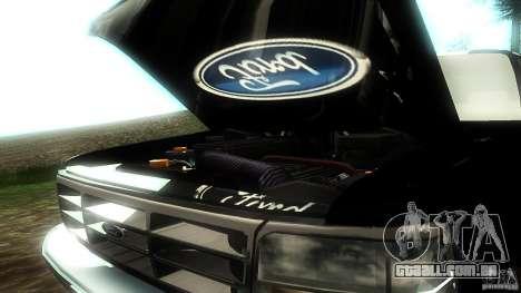 Ford F350 1992 para vista lateral GTA San Andreas
