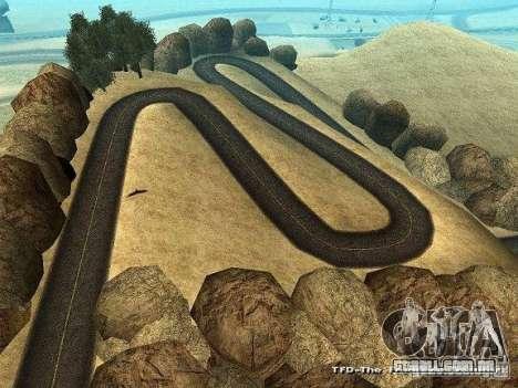 Downhill Drift para GTA San Andreas por diante tela