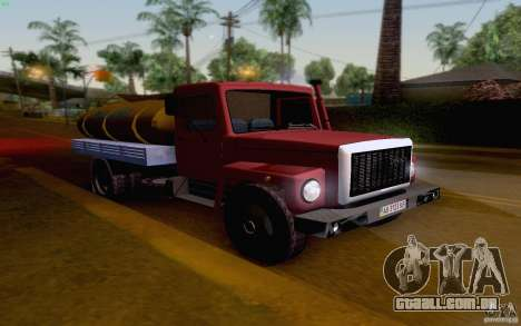 Tanque de leite GAZ 3309 para GTA San Andreas esquerda vista