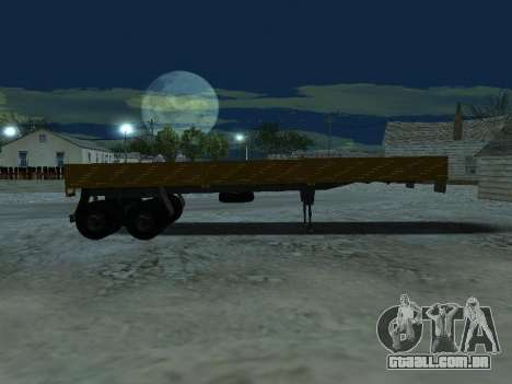 Trailer de Kamaz 5410 para GTA San Andreas vista interior
