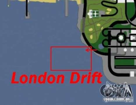 Drift de Londres para GTA San Andreas quinto tela