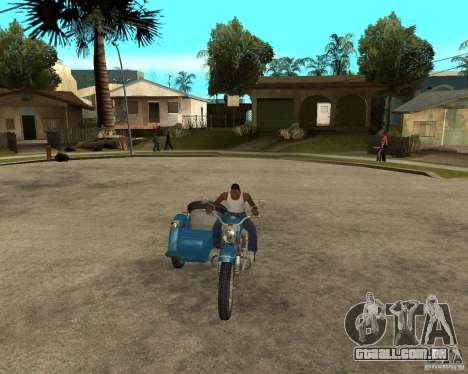 Ural sidecar de turista para GTA San Andreas vista traseira
