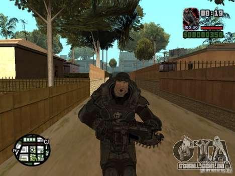 Marcus Fenix do Gears of War 2 para GTA San Andreas quinto tela
