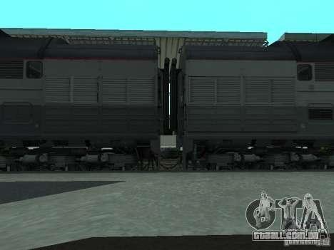 2te116 RZD para GTA San Andreas traseira esquerda vista