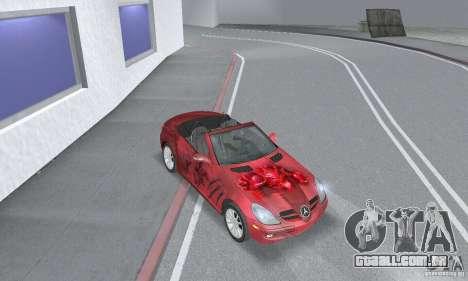 Mercedes-Benz SLK 350 para GTA San Andreas vista interior