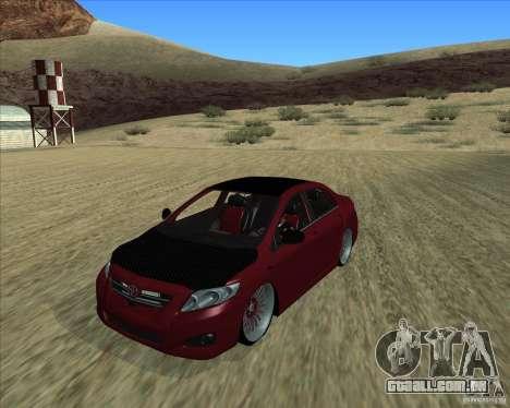 Toyota Corolla 2008 Tuning para GTA San Andreas