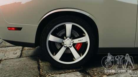 Dodge Challenger SRT8 392 2012 para GTA 4 interior