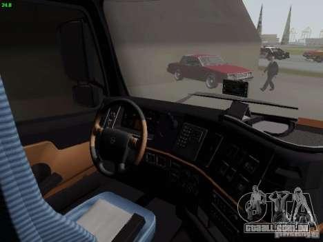 Volvo FH13 Globetrotter para GTA San Andreas vista interior