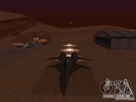 ADF01 Falken para GTA San Andreas vista interior