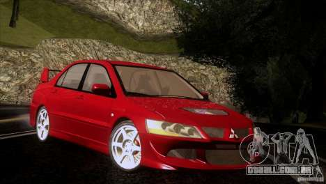 Mitsubishi Lancer Evolution IIIV para GTA San Andreas vista interior