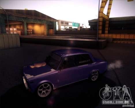 Drift VAZ 2106 para GTA San Andreas vista direita