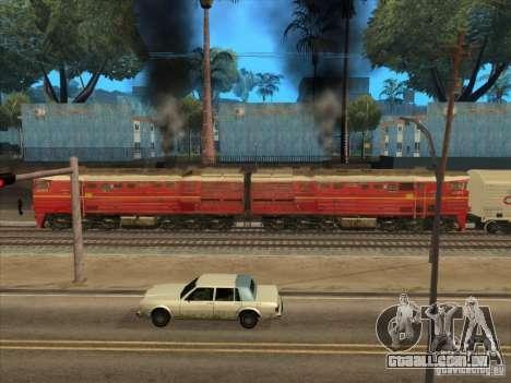 2te10v-4833 para GTA San Andreas traseira esquerda vista