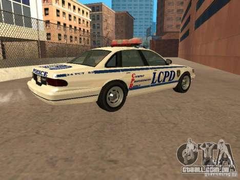 A polícia de GTA4 para GTA San Andreas esquerda vista