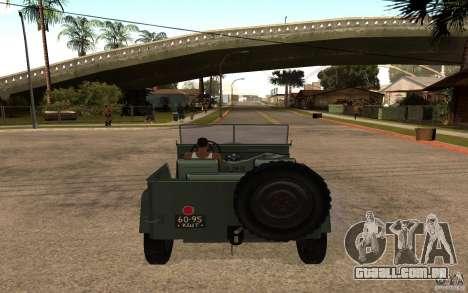 GAZ-67 b para GTA San Andreas traseira esquerda vista