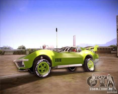 Chevrolet Corvette drag para GTA San Andreas esquerda vista