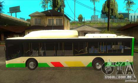 Mercedes Benz MAN Lions City CNG para GTA San Andreas esquerda vista